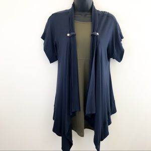 7 for all Mankind navy blue cardigan sweater small